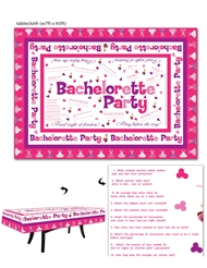 BACHELORETTE TRIVIA TABLE CLOTH