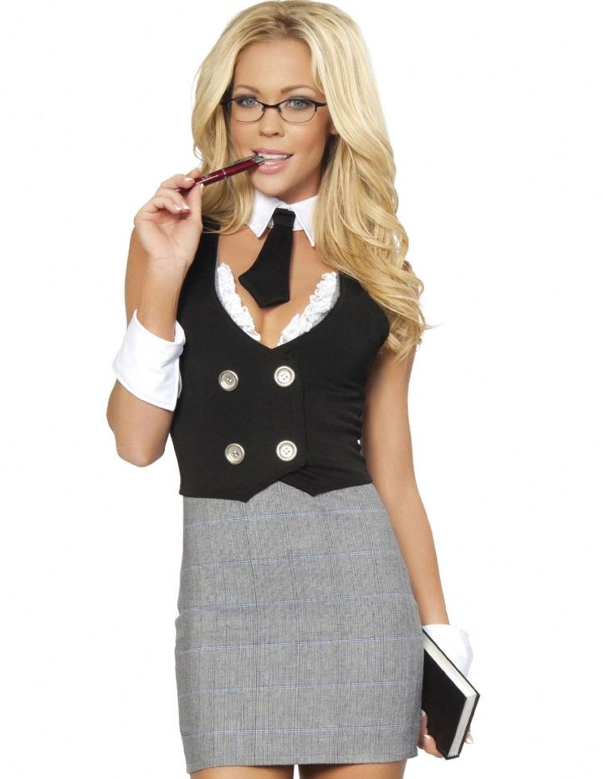 4Pc Librarian Costume