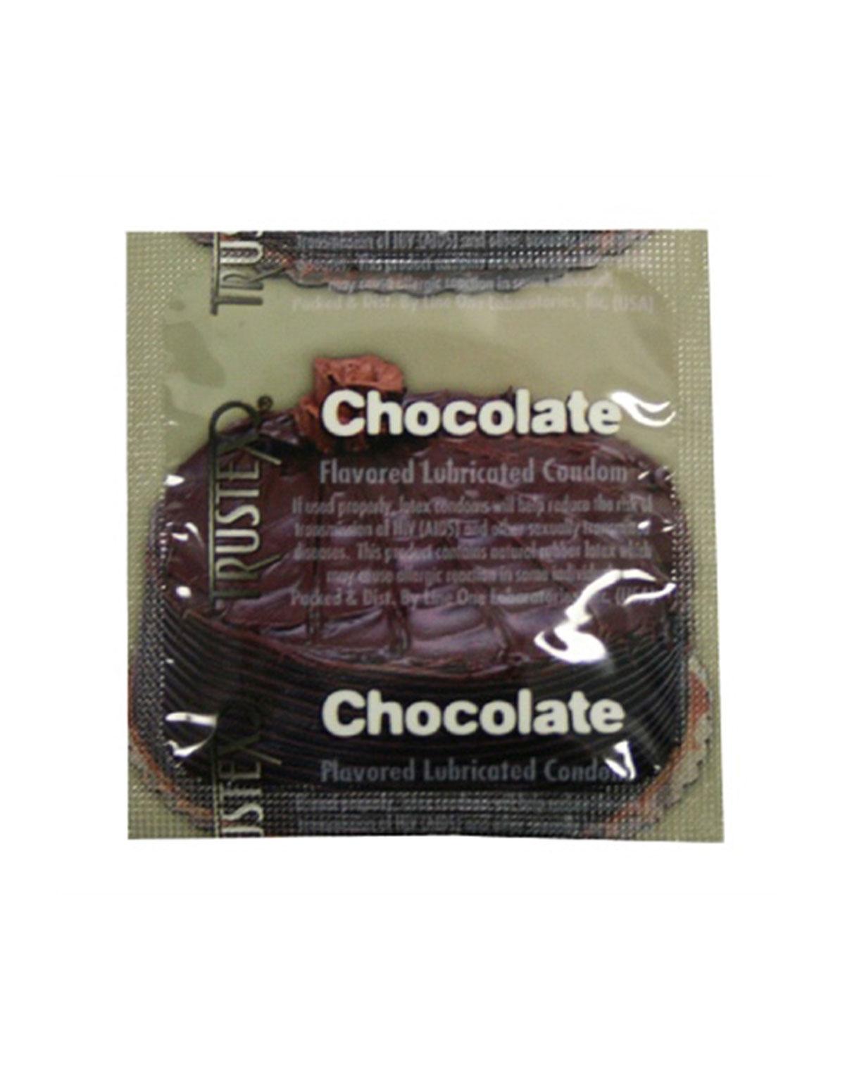 Trustex Chocolate Condom 3Pk