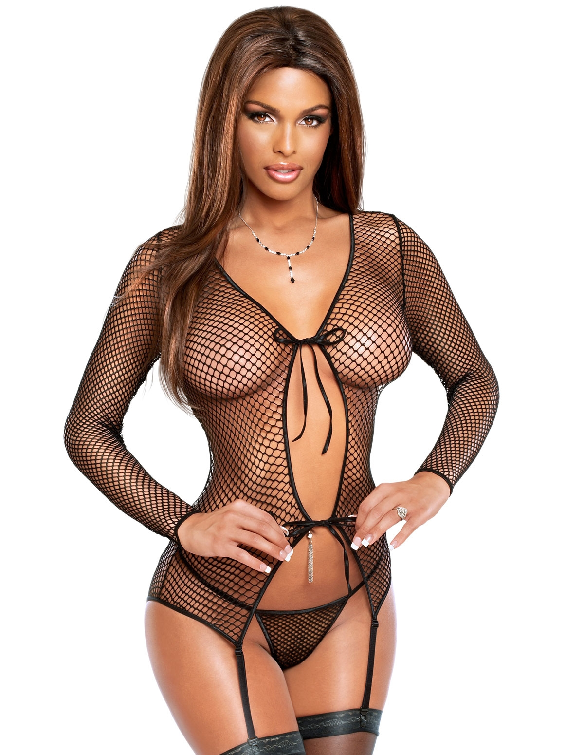 Fishnet Merry Widow Jacket Set