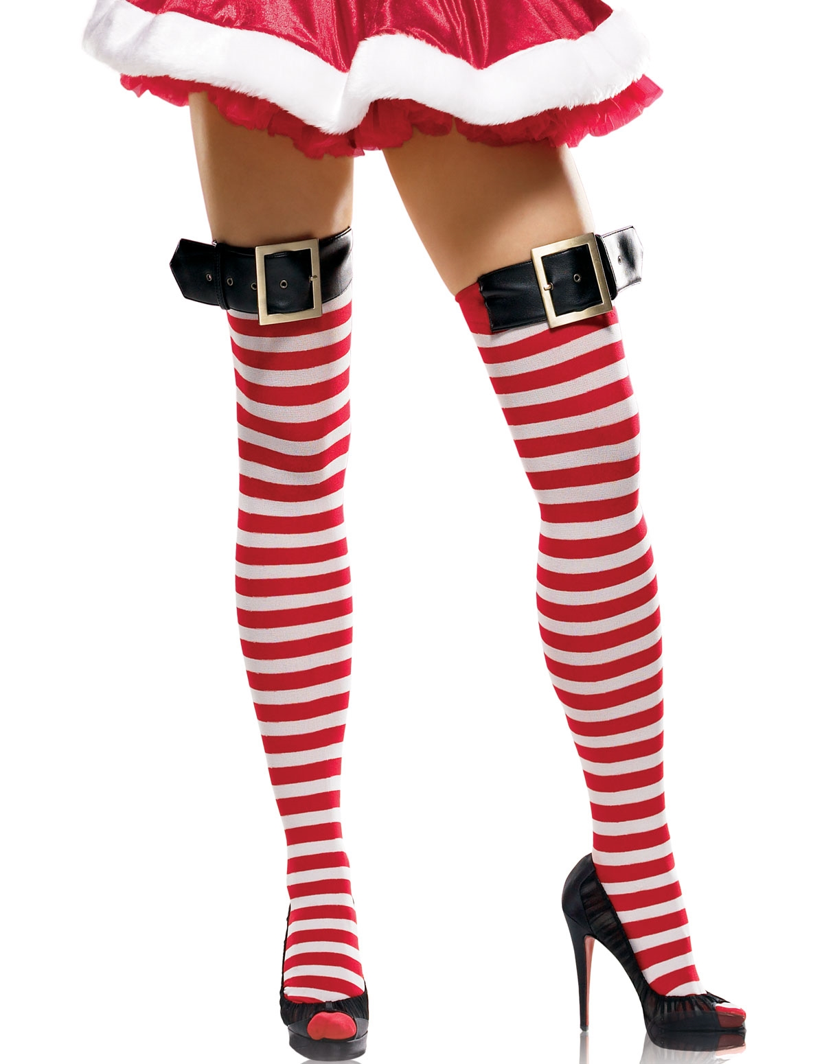 Stockings W/Belt Buckle Top