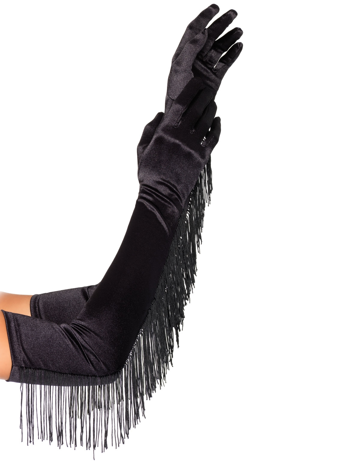 Satin Fringe Gloves