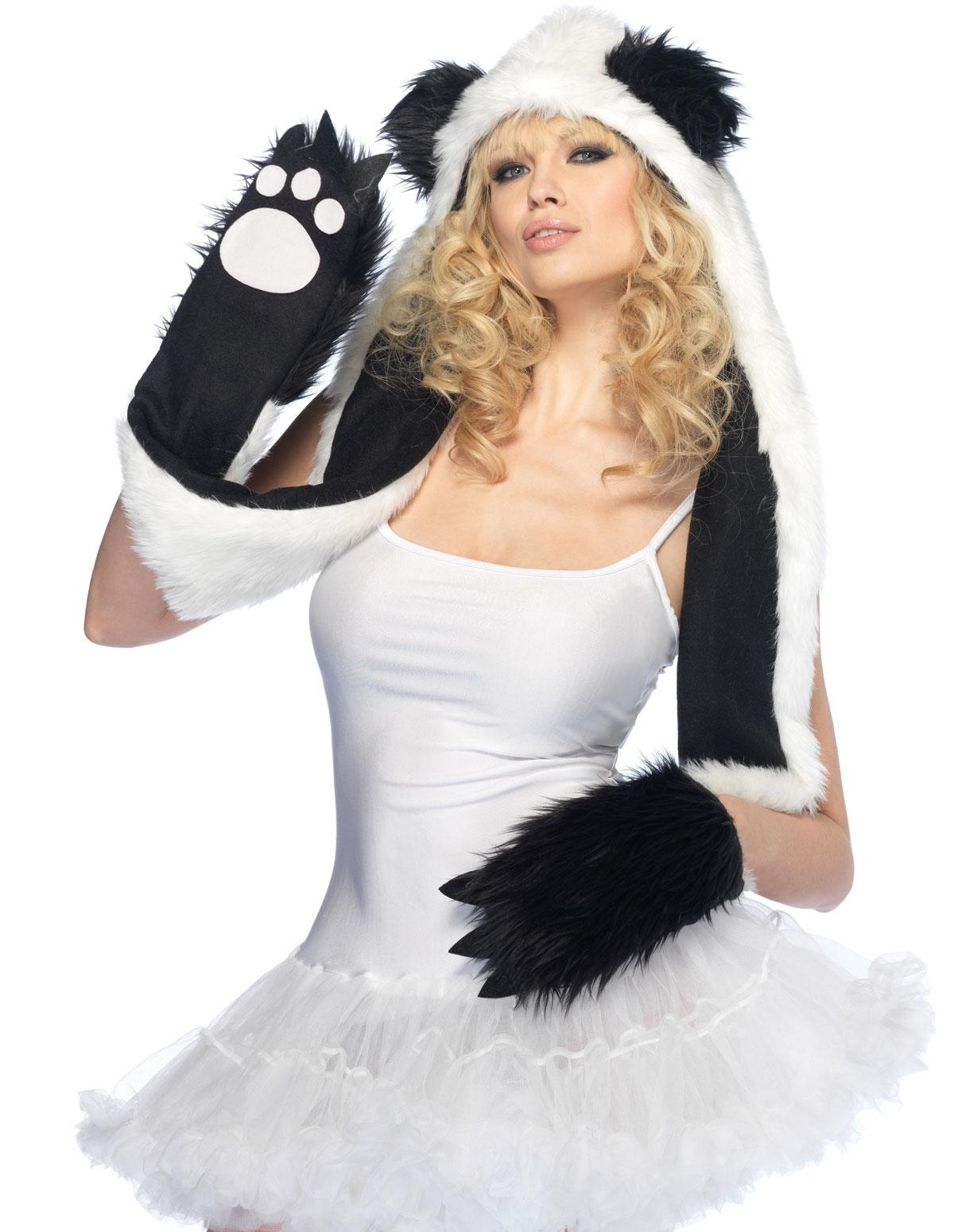 Plush Panda Hood