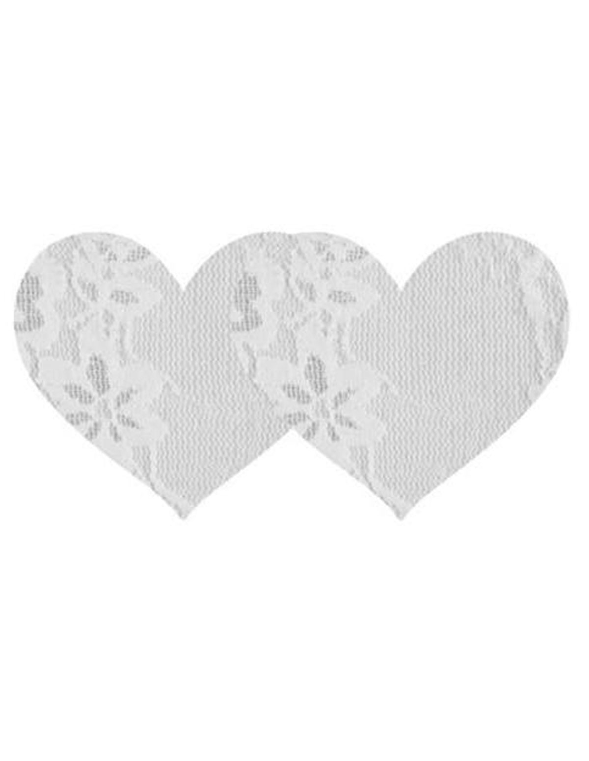 Lace Heart Pasties White