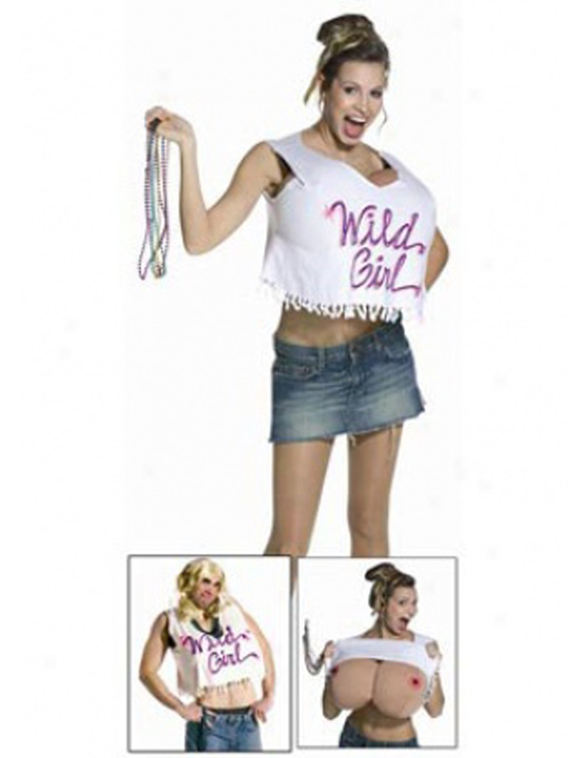 Wild Girl T-Shirt Costume