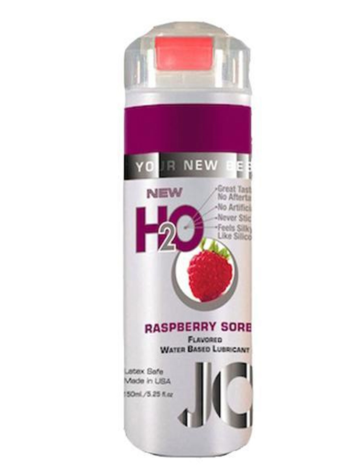 H2o Flavored Lubricant - Raspberry 5.25 Oz