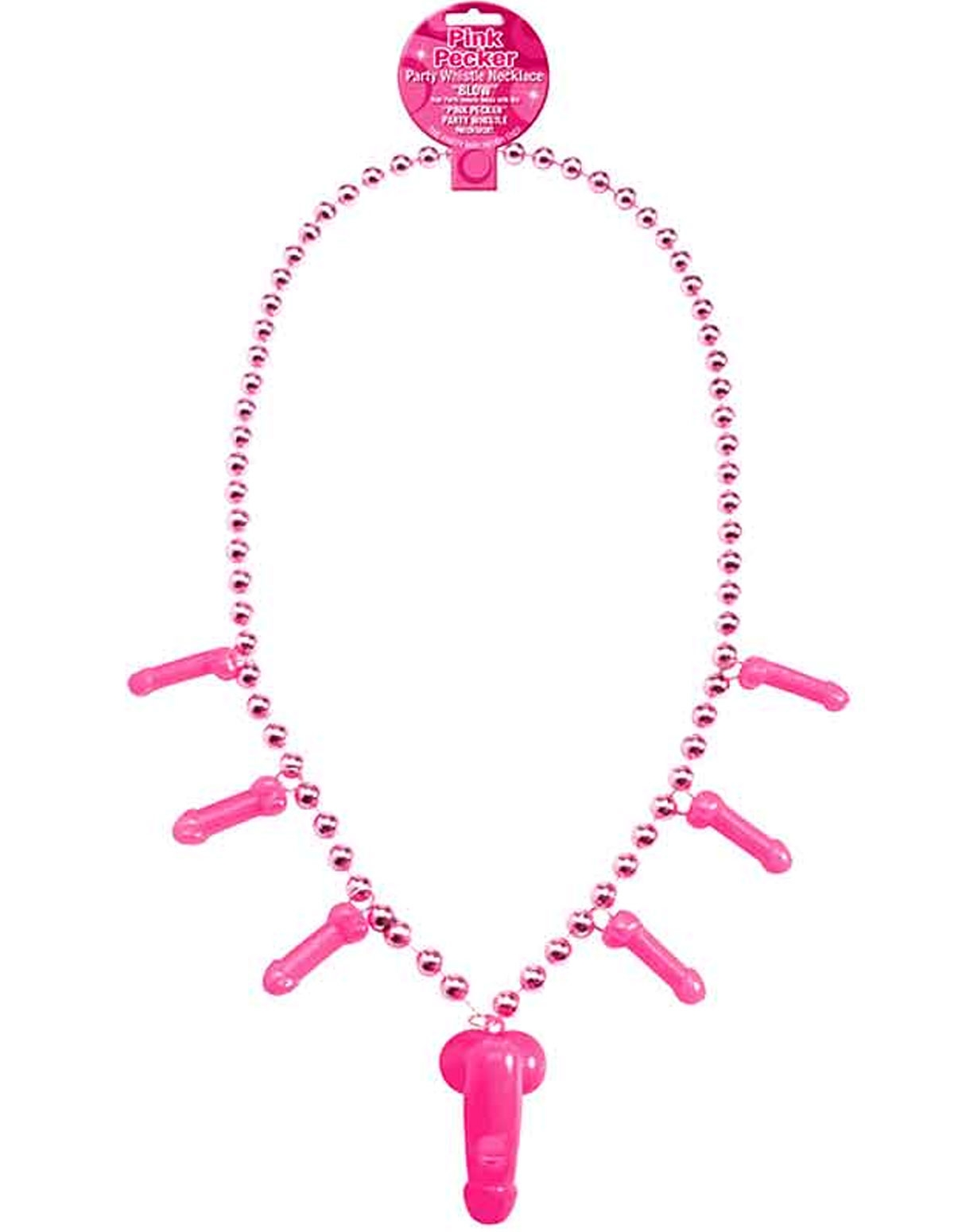 Pink Pecker Whistle Necklace