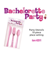 BACHELORETTE PARTY 10PK UTENSILS