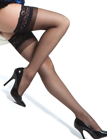 SHEER LACE TOP THIGH HIGHS - REG & PLUS