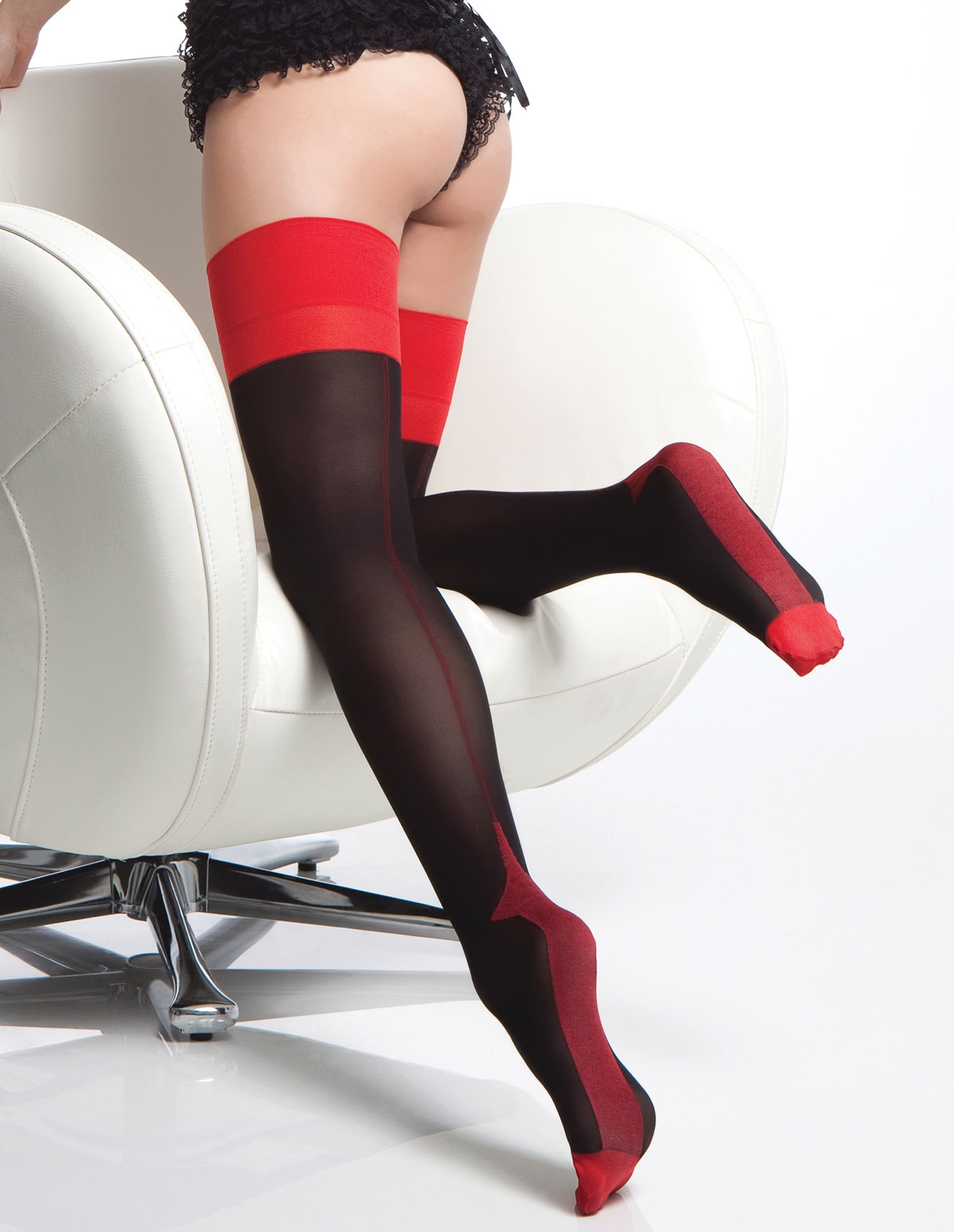 Contrast Cuban Stockings
