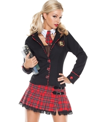 5PC SCHOOL GIRL COSTUME - PLUS