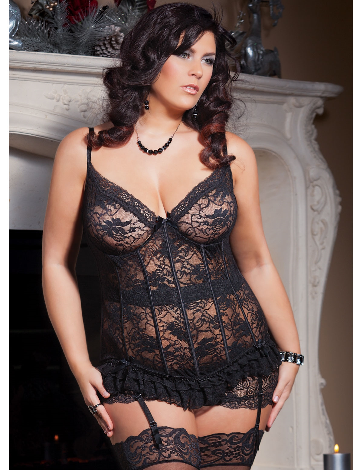 Lasting Lace Bustier - Plus