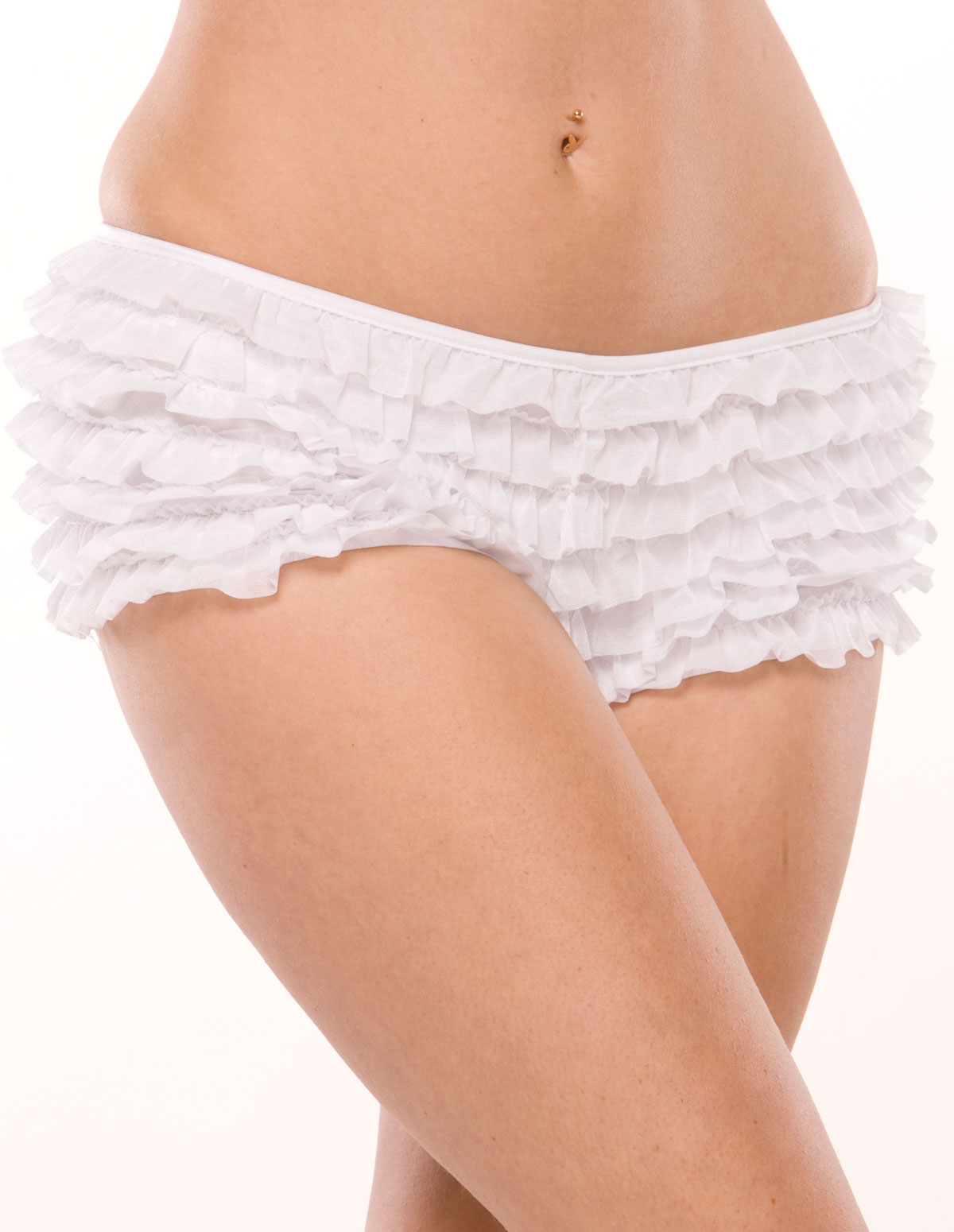 Ruffle Short With Bow - Plus