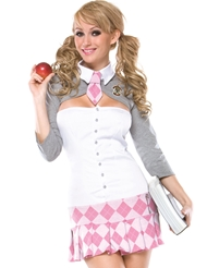 PREP SCHOOL GIRL COSTUME - PLUS