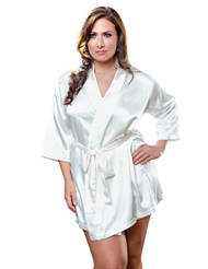 SATIN ROBE - PLUS