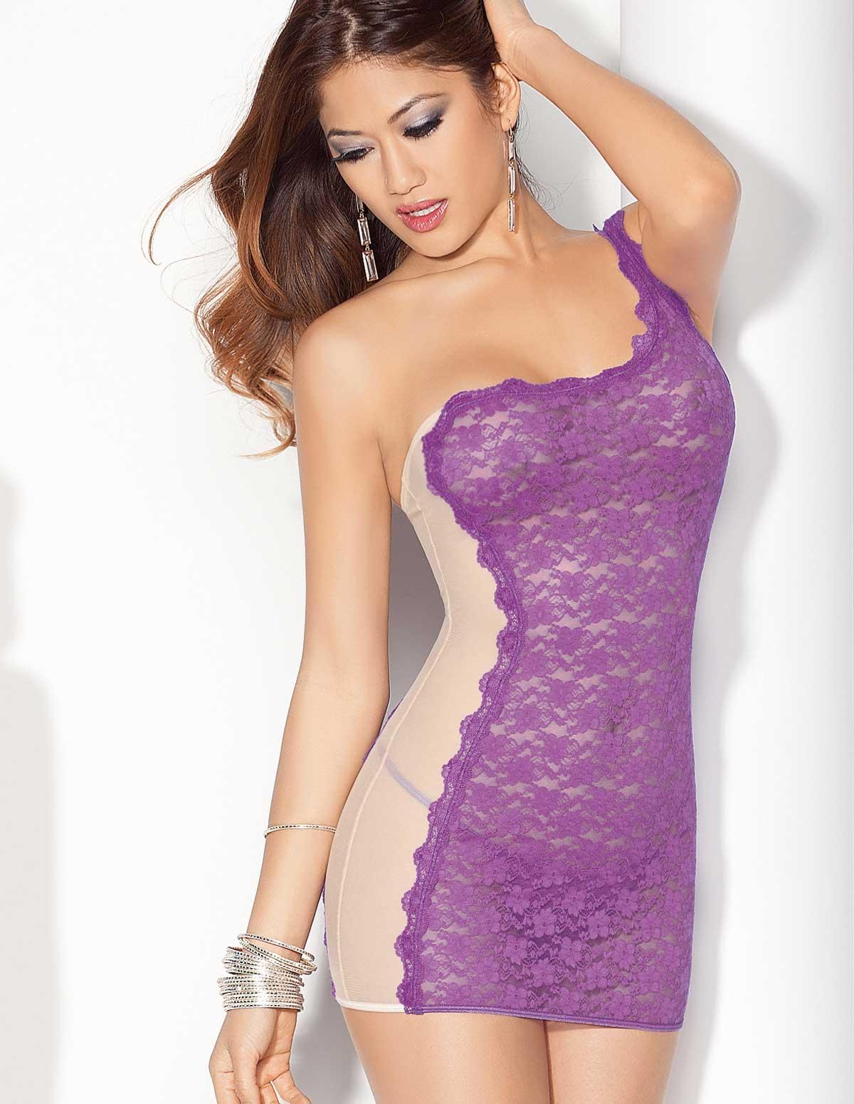 Lace Contrast Dress