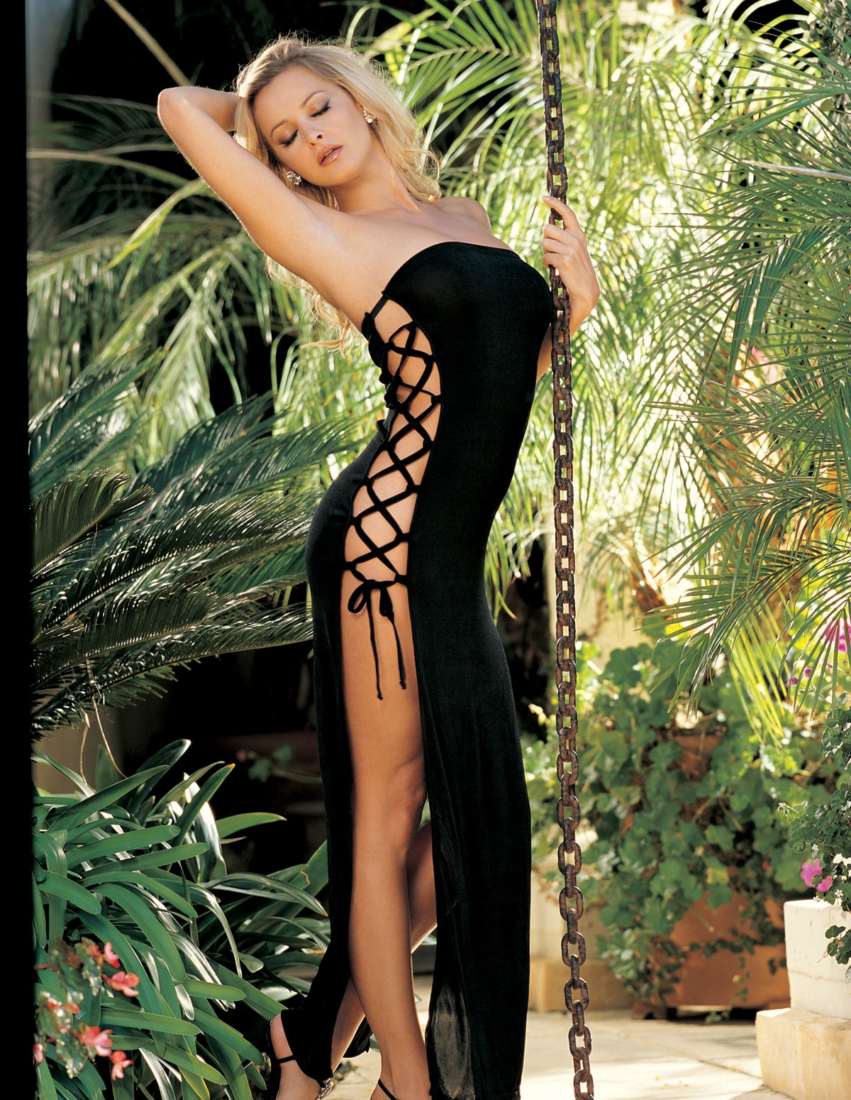Slinky Lace-Up Gown