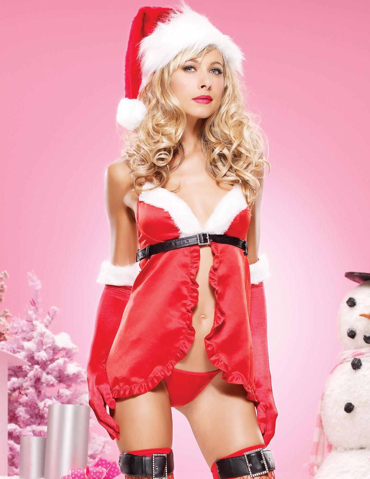 Santa Ruffle Babydoll