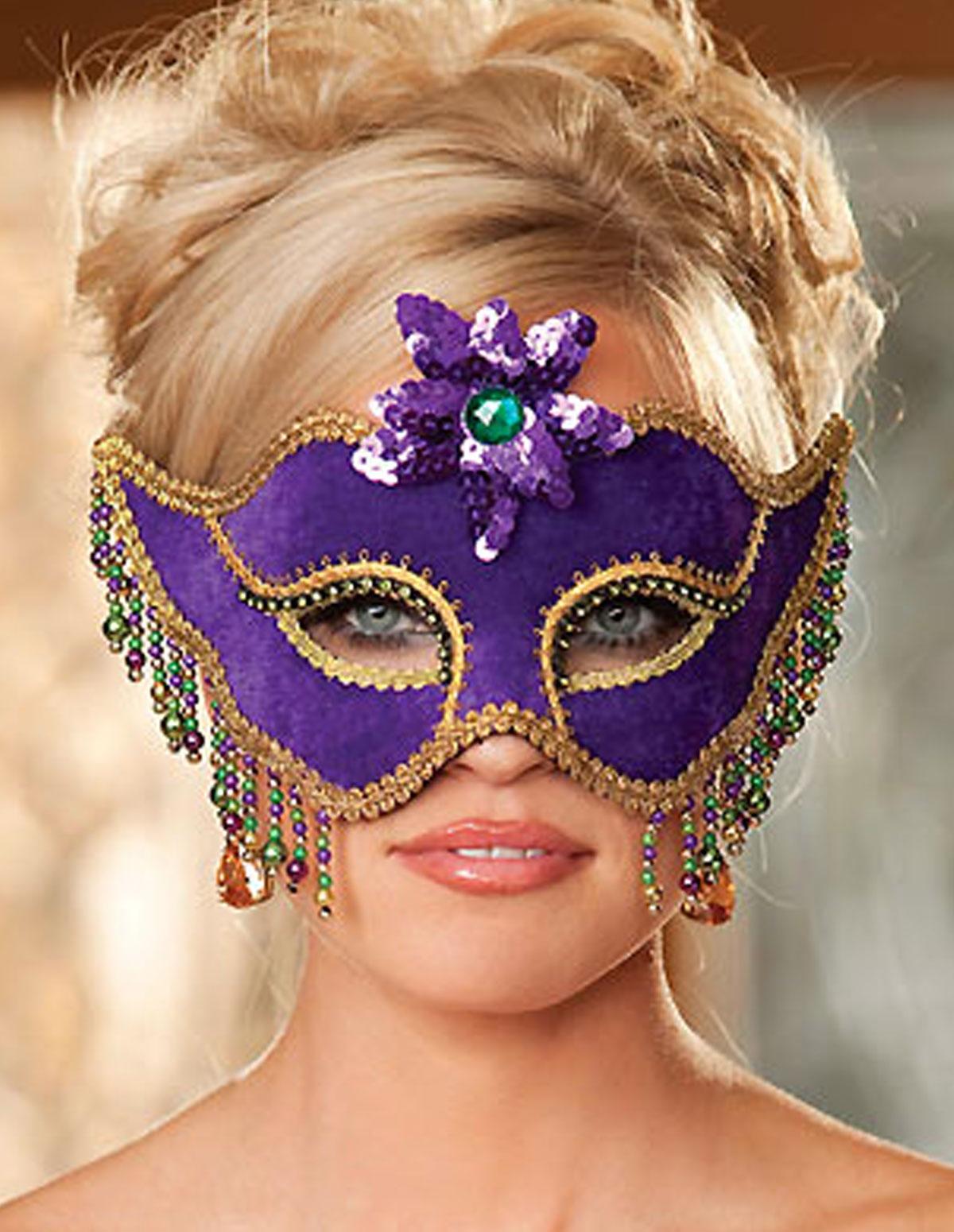 Velvet Mardi Gras Mask