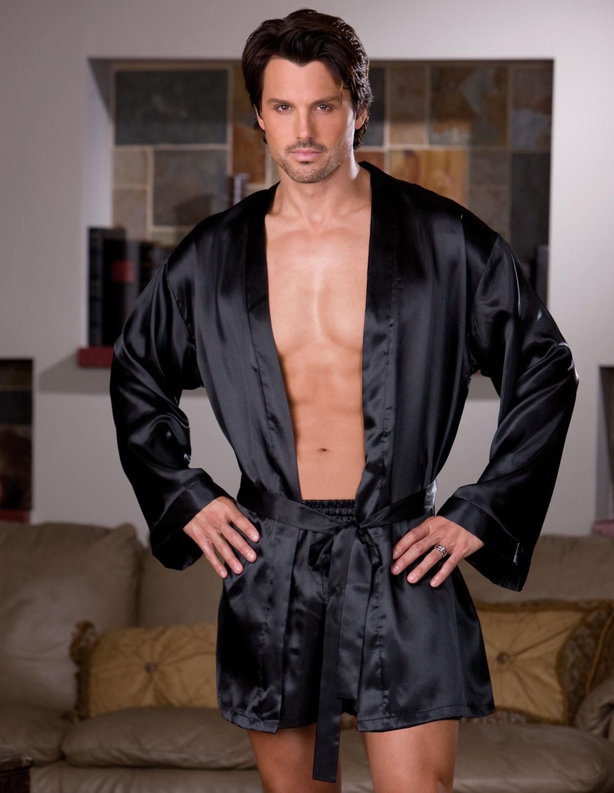 Charmeuse Robe W/Boxer