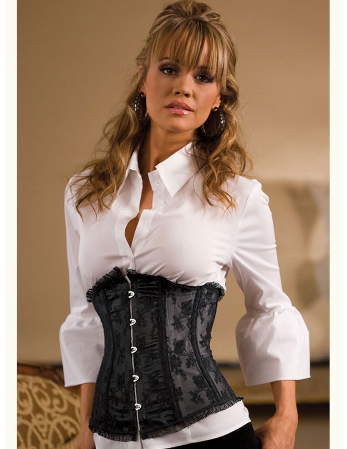 Luxurious Lace Waist Cincher - Plus