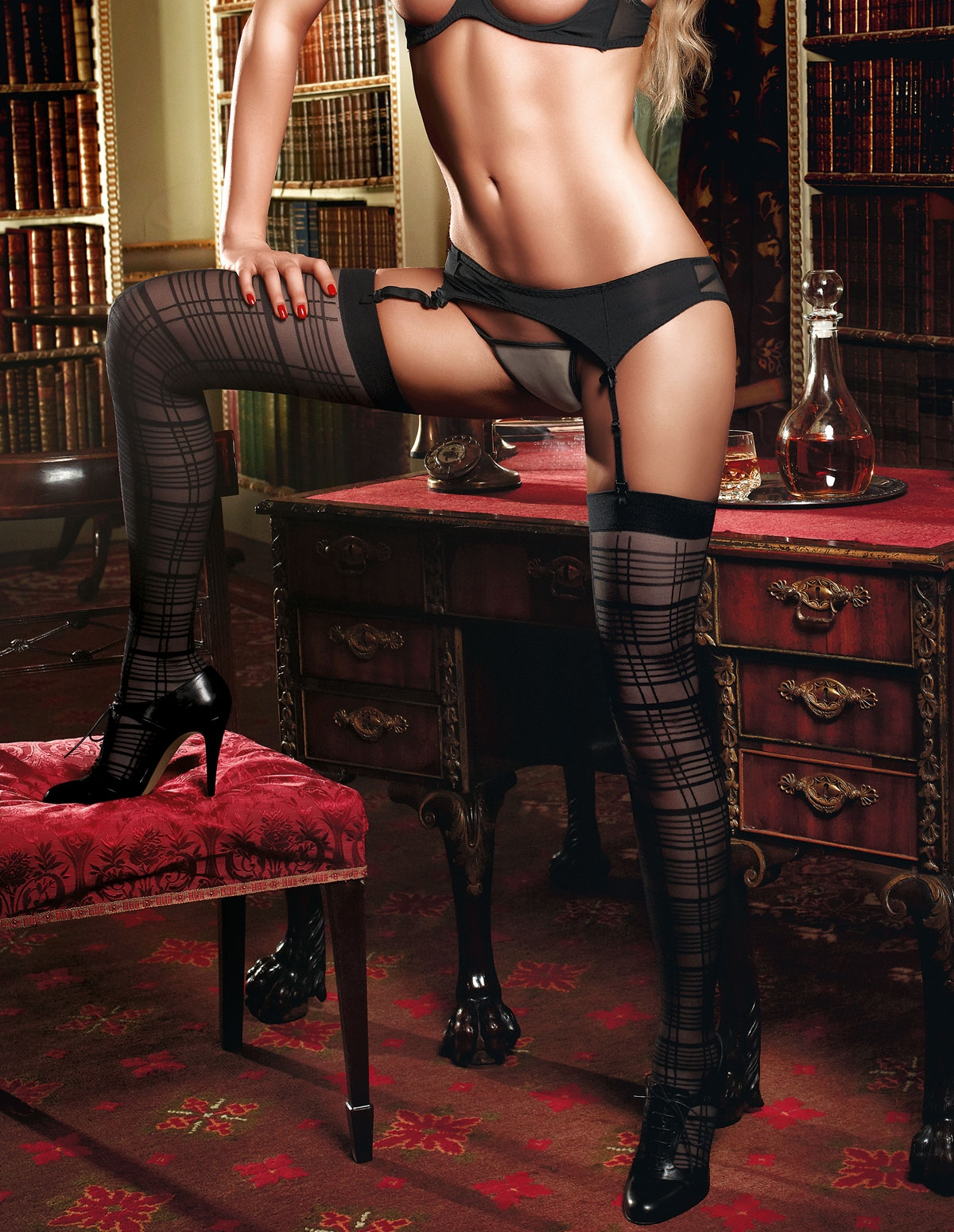 Grid Sheer Stockings