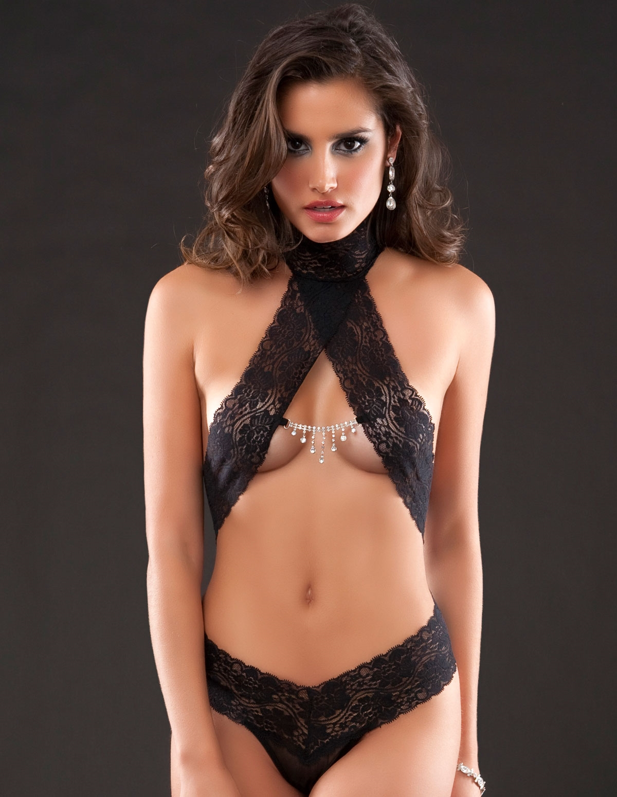 Lace Crystal Teddy