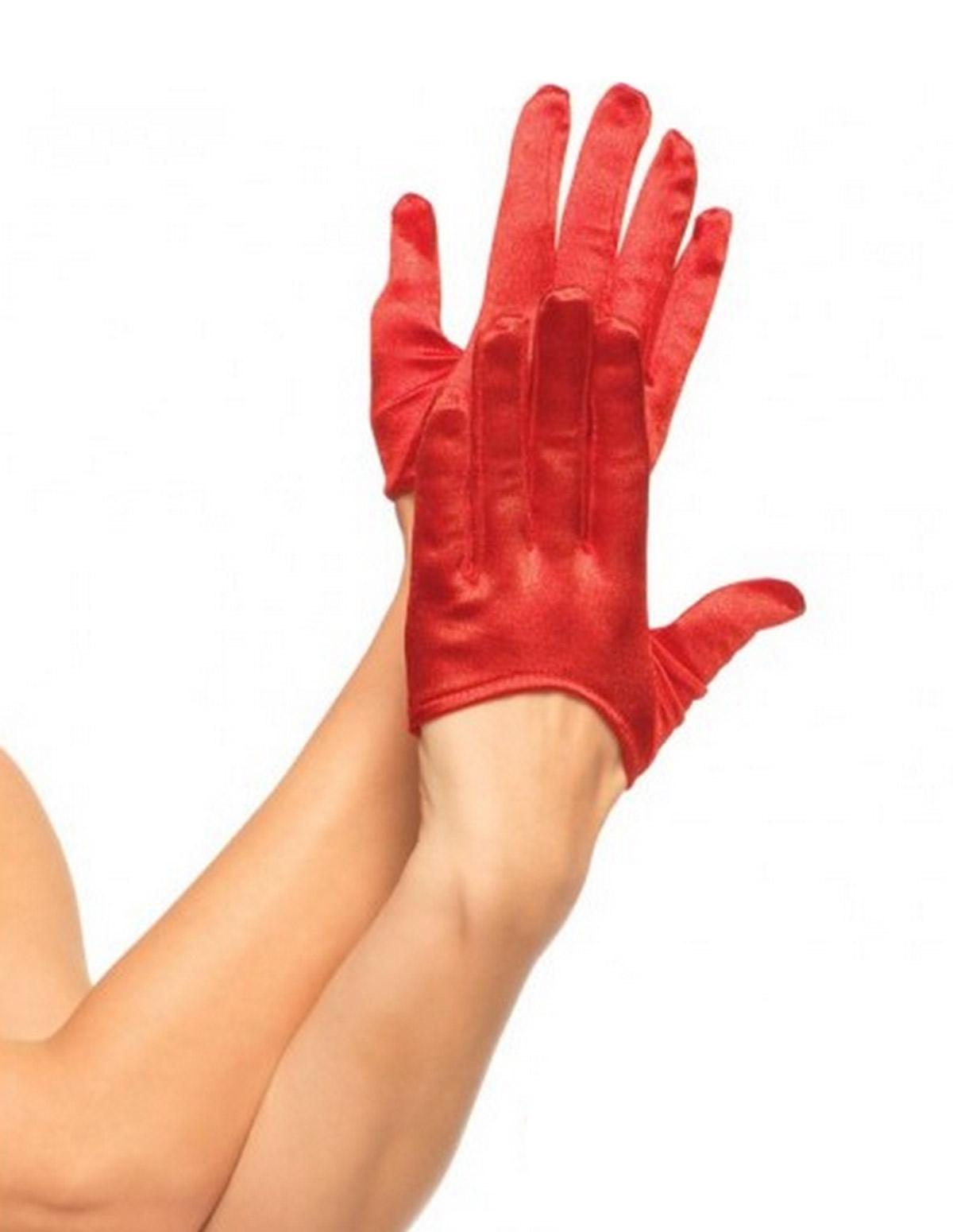 Crop Satin Gloves