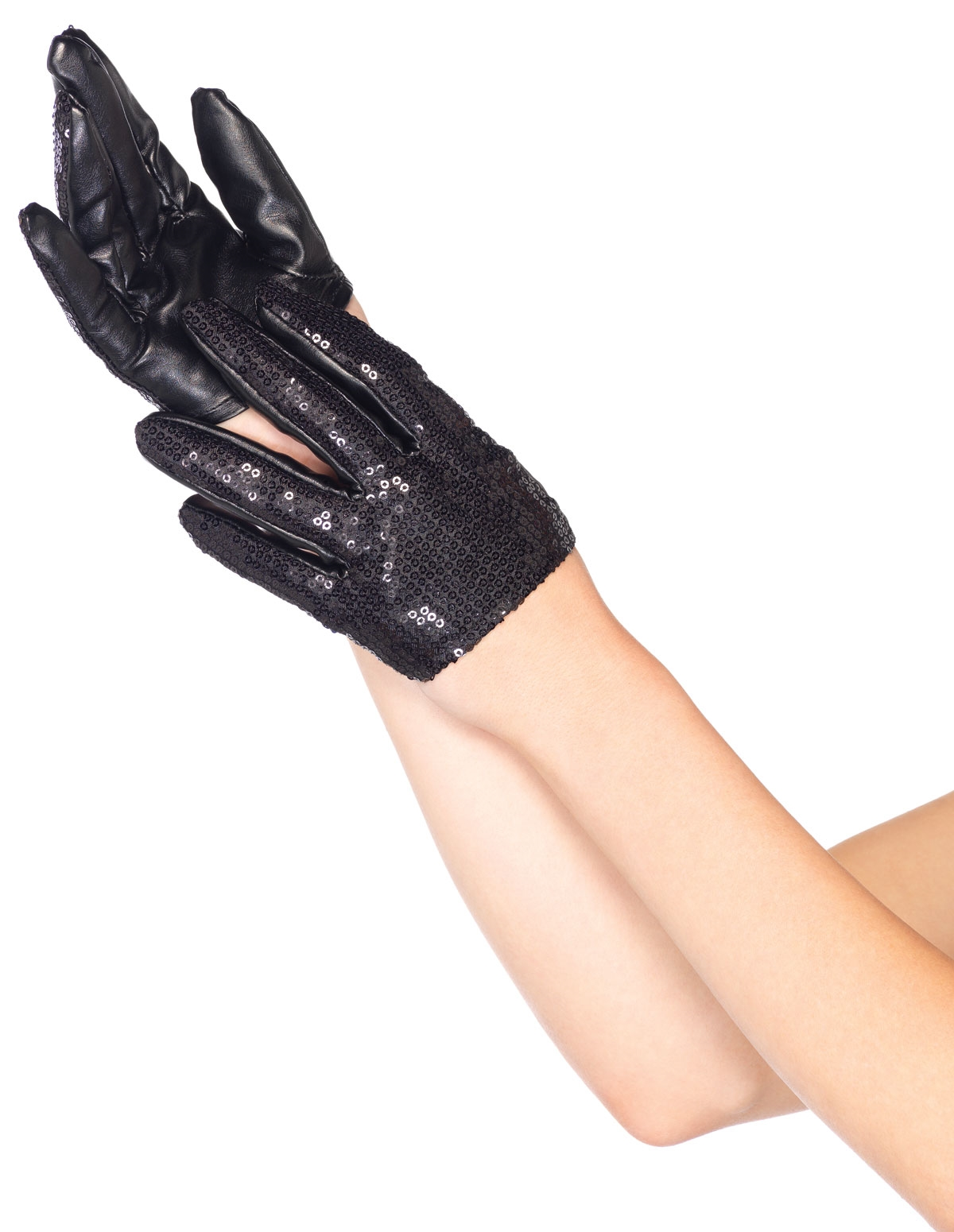 Sequin Crop Gloves