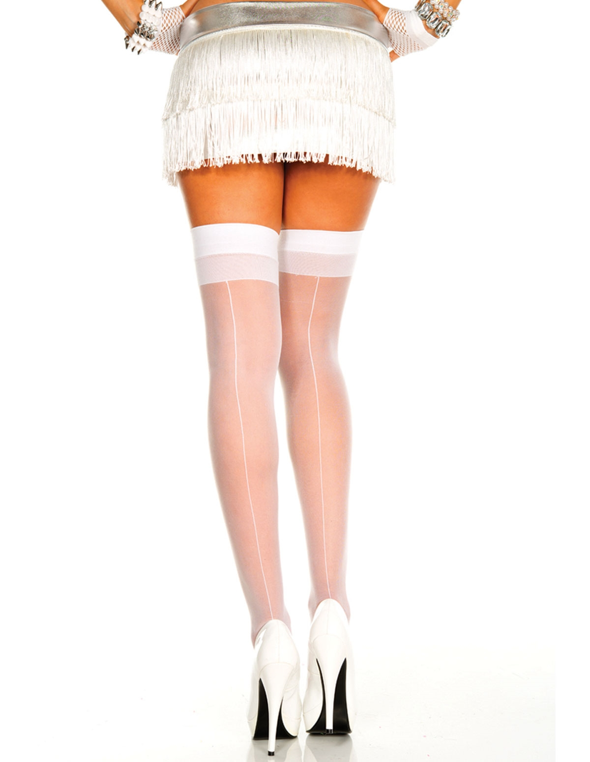 Backseam Sheer Thigh High