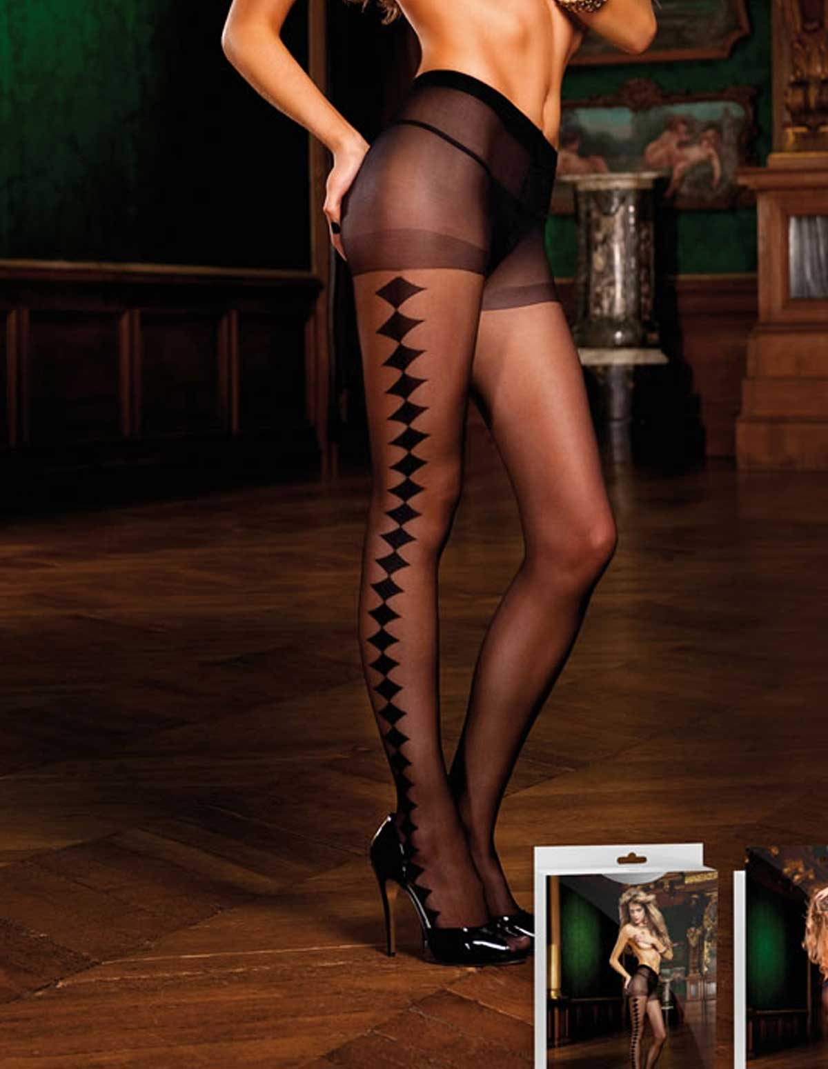 Sheer Diamond Pantyhose