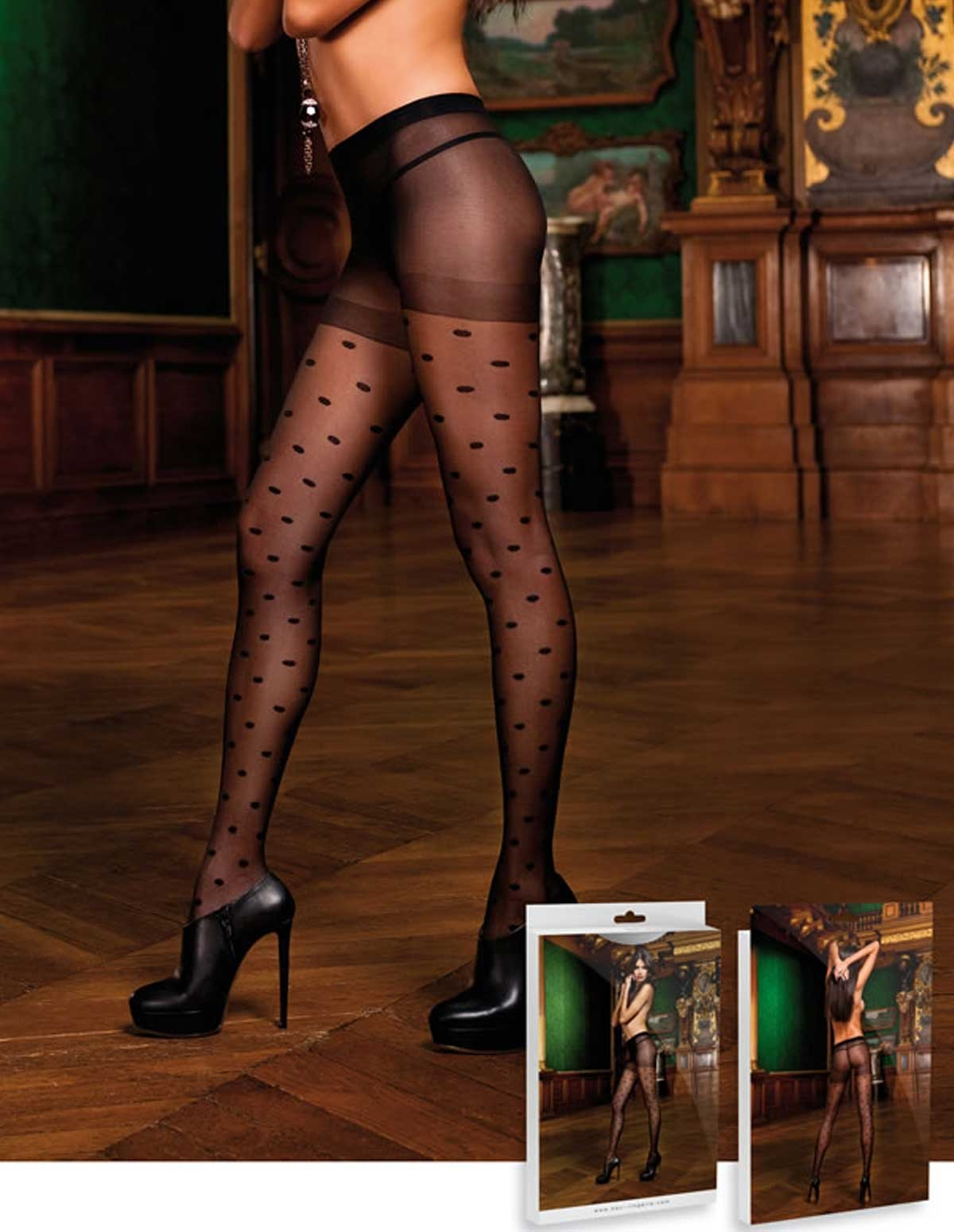 Sheer Dot Pantyhose