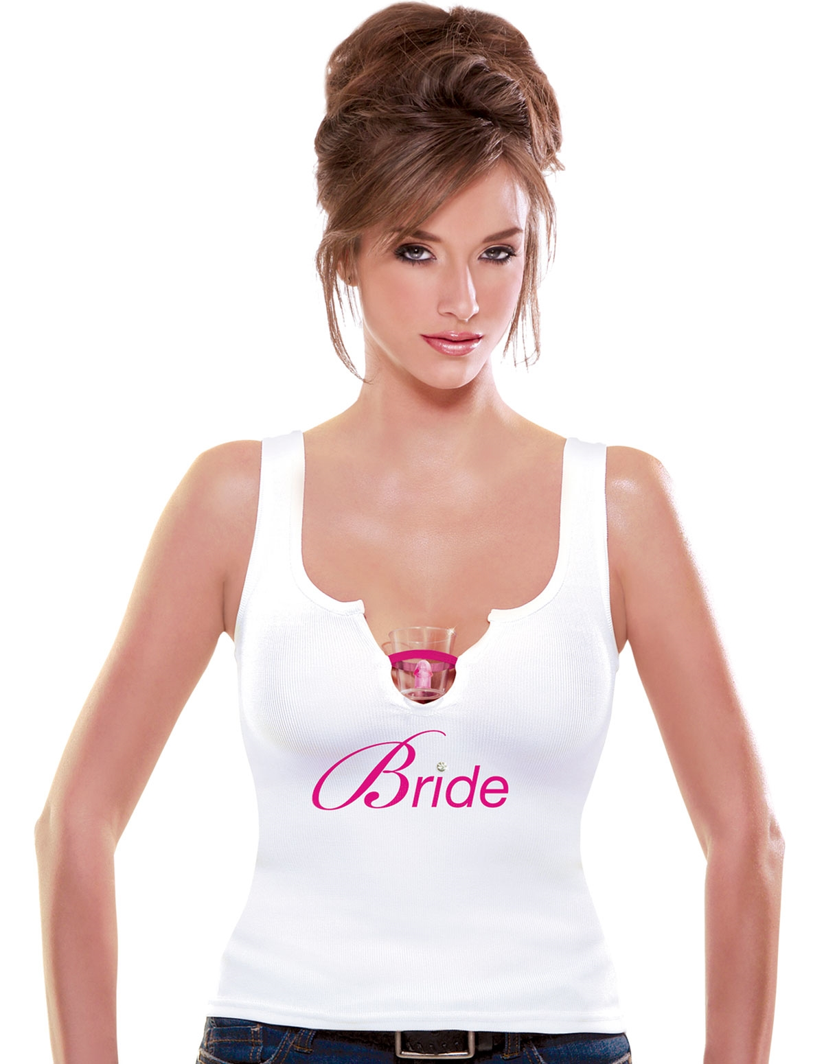 Bride Shot Glass Tank Top - S/M