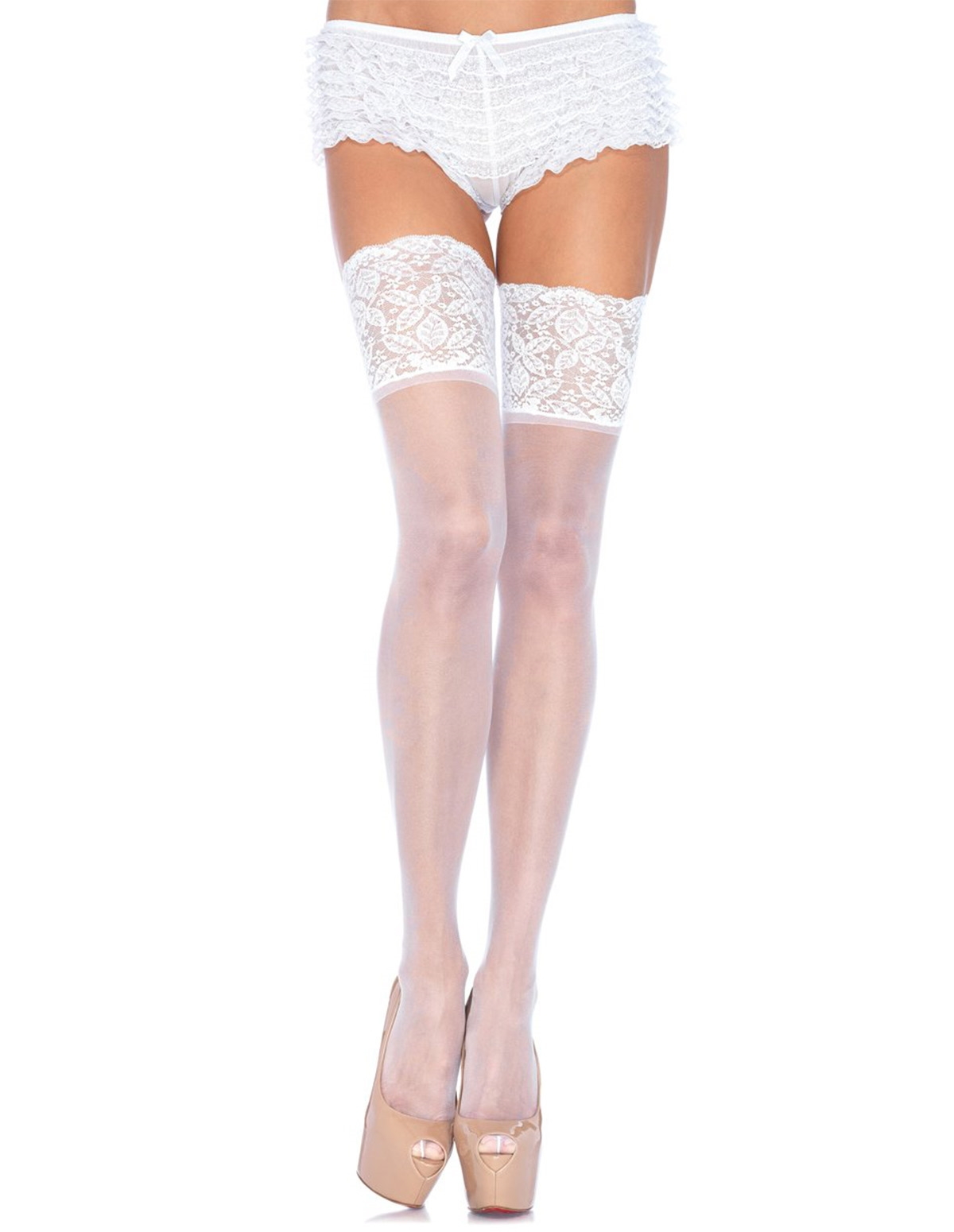 5 Inch Lace Top Thigh High - Plus