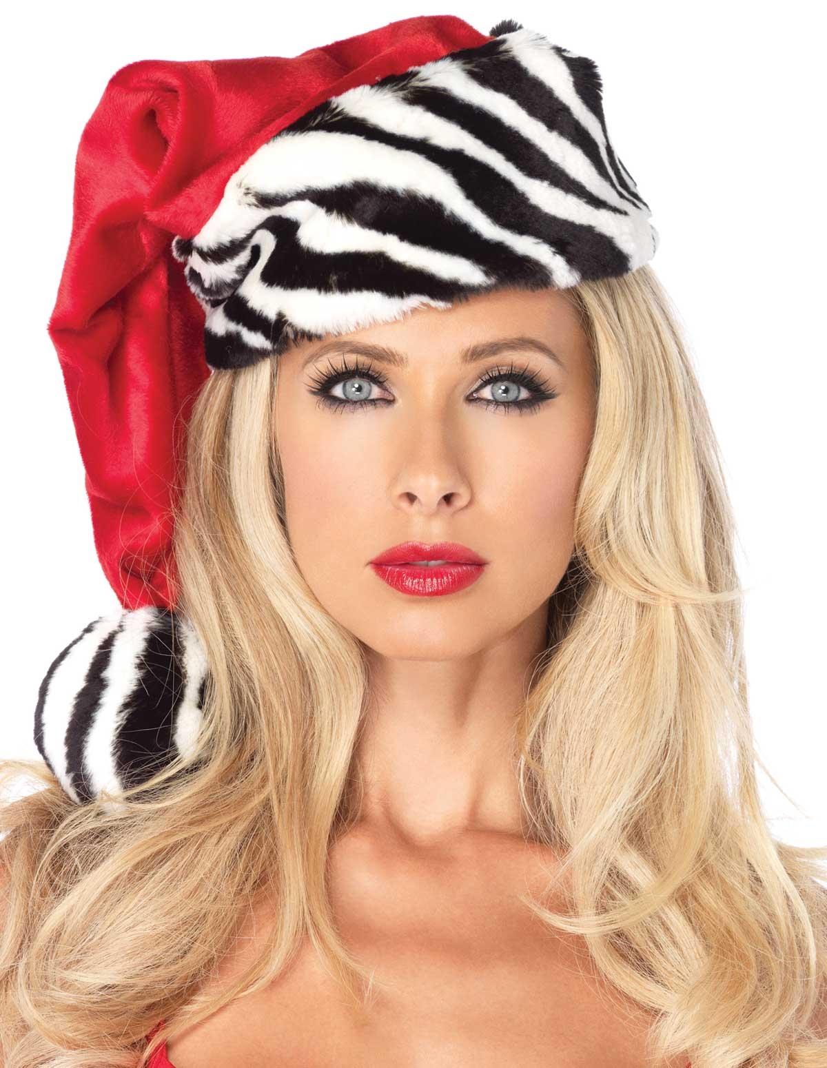 Zebra Santa Hat