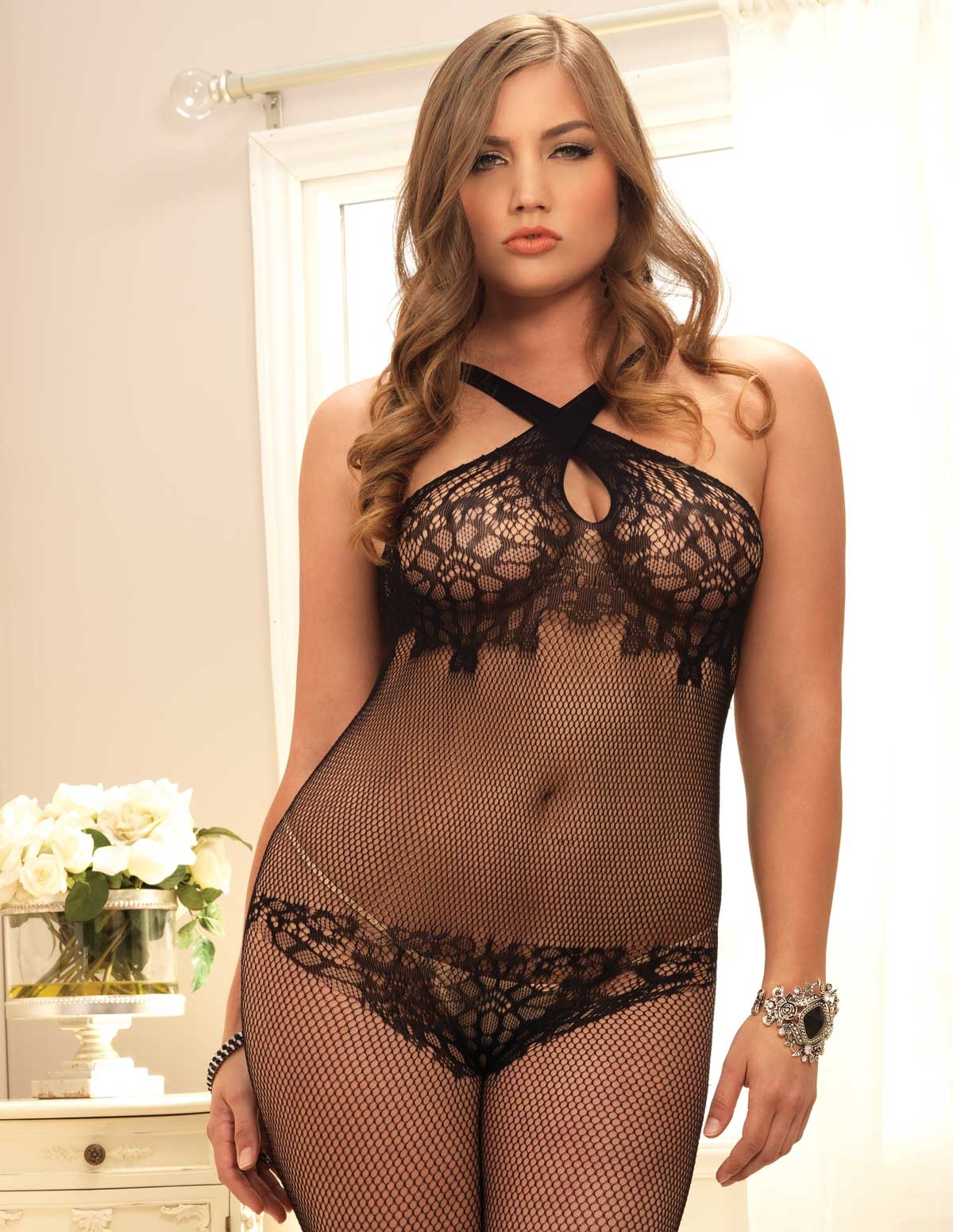 Convertible Strap Bodystocking