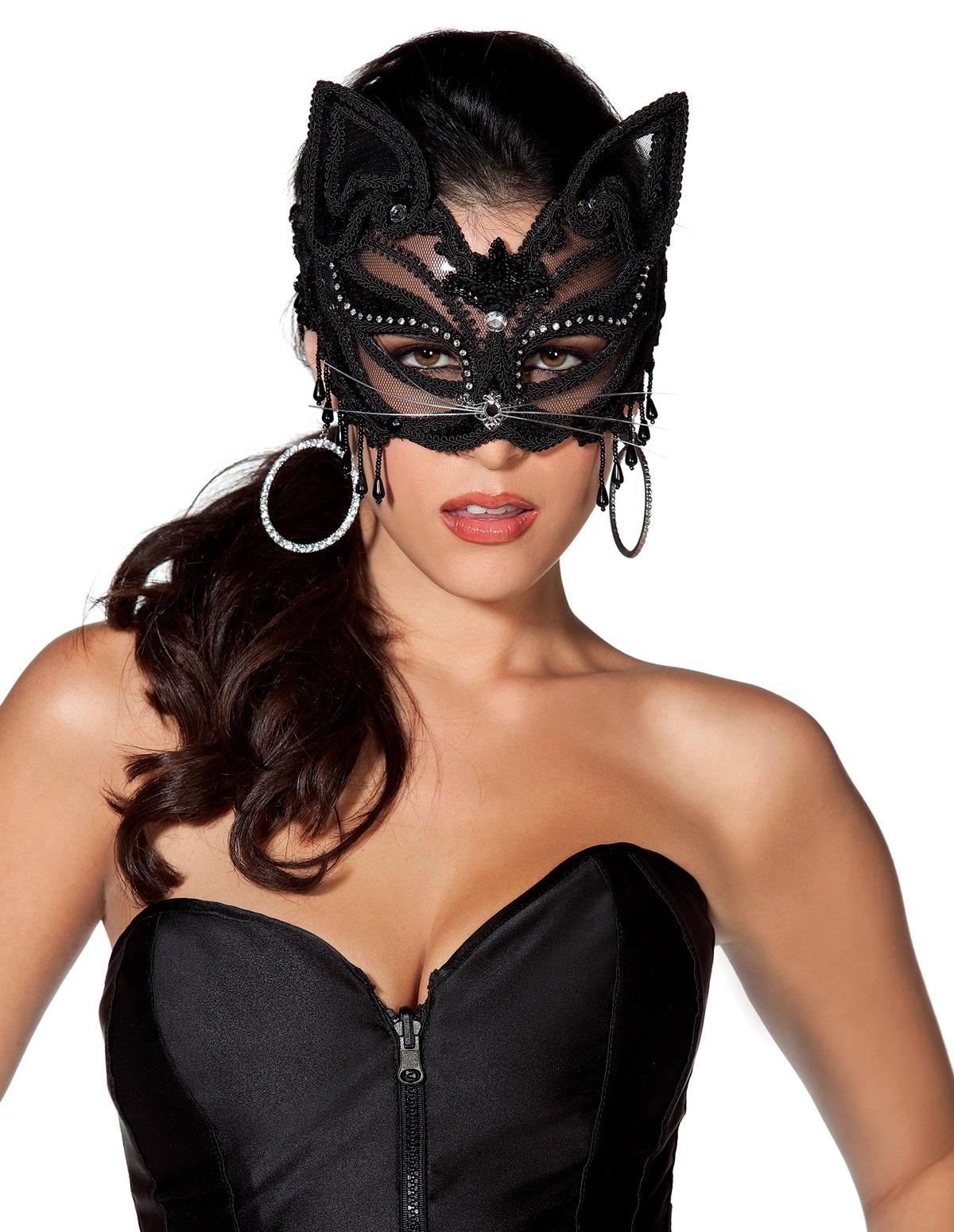 Lace Cat Mask