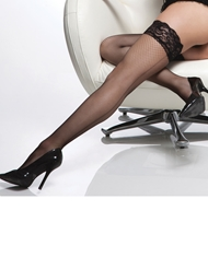 FISHNET BACKSEAM THIGH HIGH