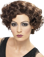 FLIRTY FLAPPER WIG - BROWN