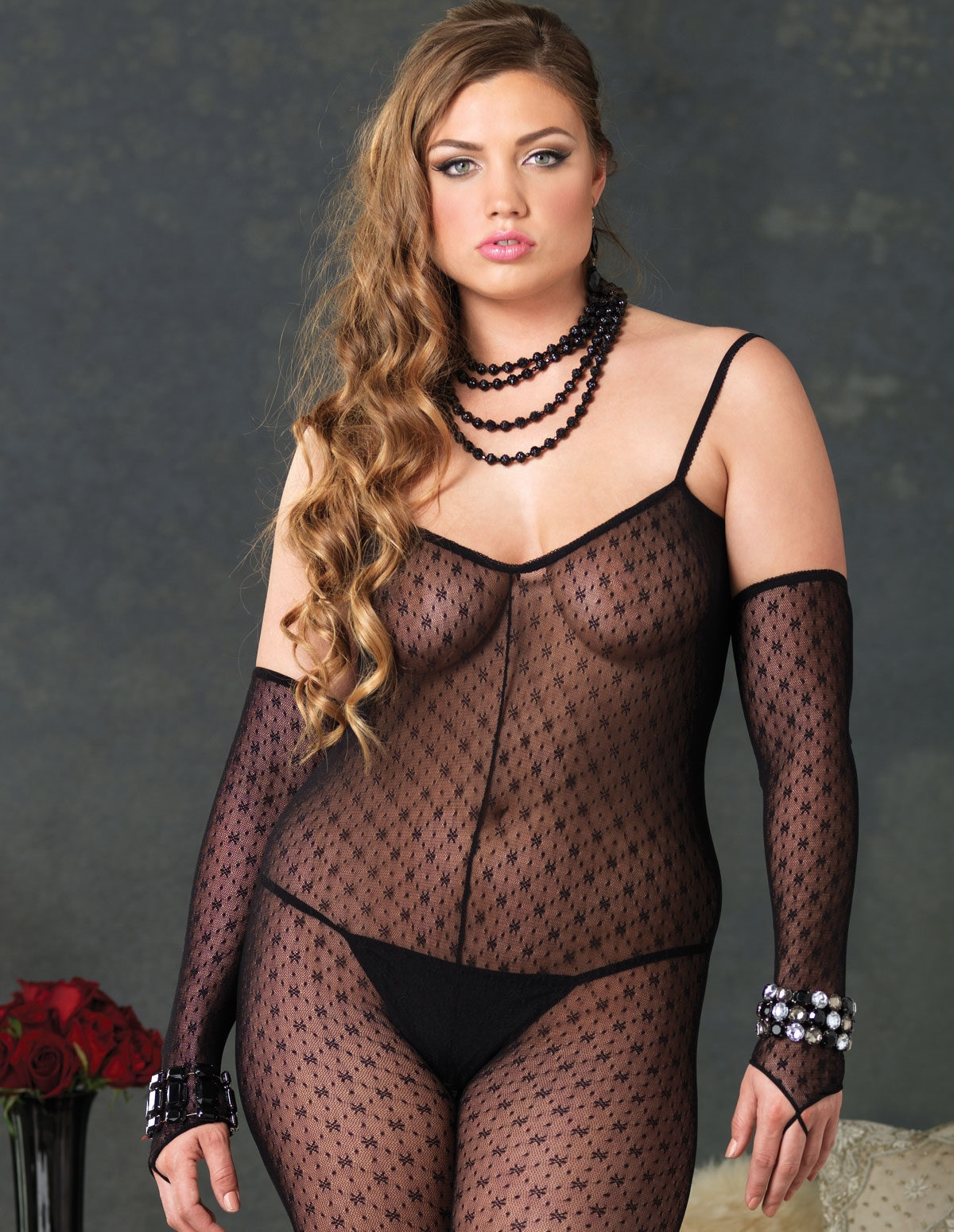 2Pc Daisy Lace Bodystocking